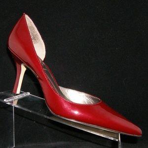AK Anne Klein 'Christa' burgundy patent heel 10M